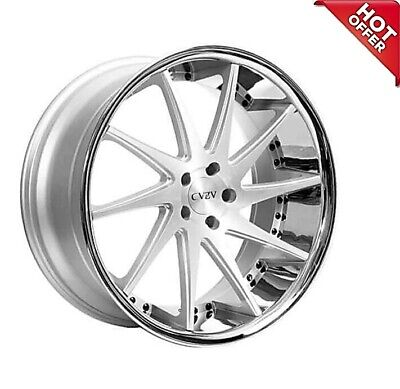 $5000 • Buy Set4 20  Azad Wheels AZ23 Silver Machined With Chrome Lip Special