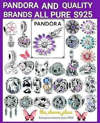 AU19.99 • Buy PANDORA PURPLE DAISY CHARM Mixed Brands Bulldog Poodle Mother Daughter Silver