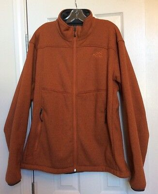 Mens The North Face Polar Tec Thermal Pro Jacket Orange And Gray Size XL • 45$