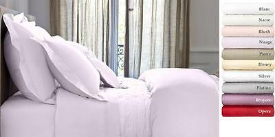 AU481.37 • Buy Yves Delorme Triomphe King Fitted Sheet, Silver