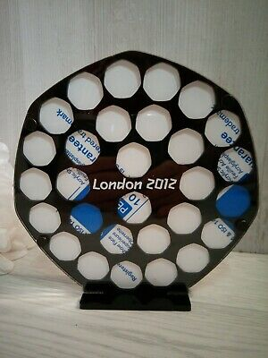 50 Pence London 2012 Olympic Coin Display Stand Frame Sports Collection  • 26.99£