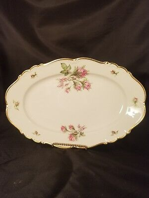 £18.71 • Buy Edelstein Bavaria Maria-Theresia Moss Rose 15  X 10  Oval Platter Pink Roses
