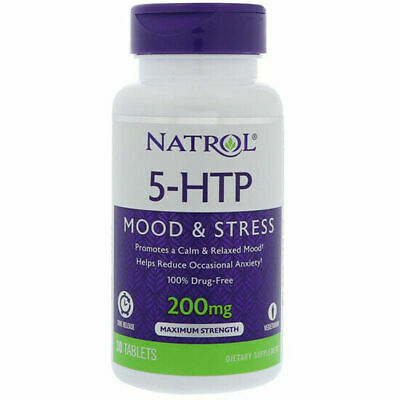 AU34.90 • Buy Natrol 5 HTP 200mg Time Release 30 Tabs, 100% Drug-free, Tryptophan, Serotonin