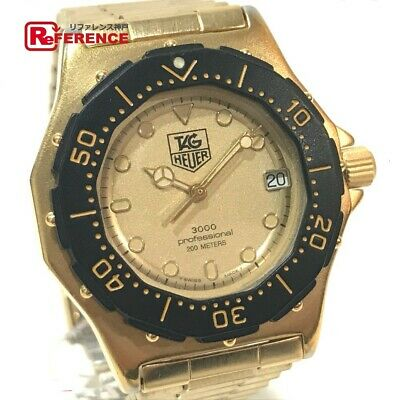 9ce12bc8374b Tag Heuer 937.413 Professional 3000 SS GP Gold Men s Watch From Japan   b0227  •