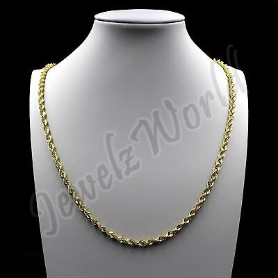 $139.99 • Buy 10K Solid Yellow Gold Necklace Gold Rope Chain 2.5mm 16  18  20  22  24  26  30