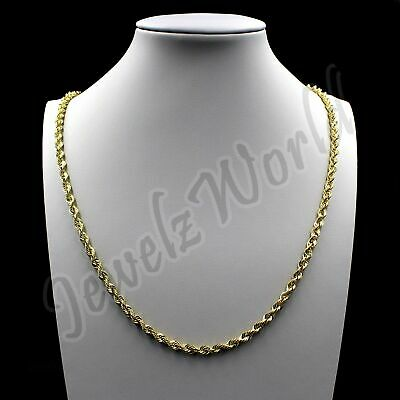 $159.99 • Buy 10K Solid Yellow Gold Necklace Gold Rope Chain 2.5mm 16  18  20  22  24  26  30