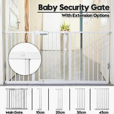 AU16.95 • Buy Adjustable Baby Pet Child Kid Safety Security Gate Stair Barrier Door Extension