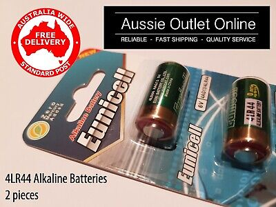 AU6.50 • Buy Quality 2x 4LR44 / 4AG13 Alkaline Battery 6V EUNICELL - Aussie Outlet Online