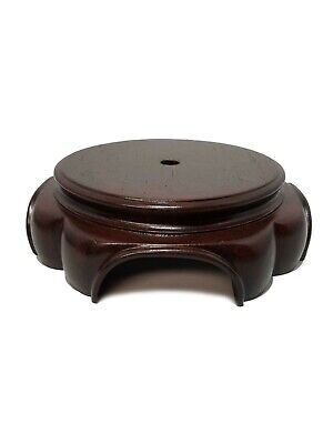 $8.95 • Buy 6  Round Dark Wood Finish Lamp Base Figurine Display Candle Pedestal Plant Stand