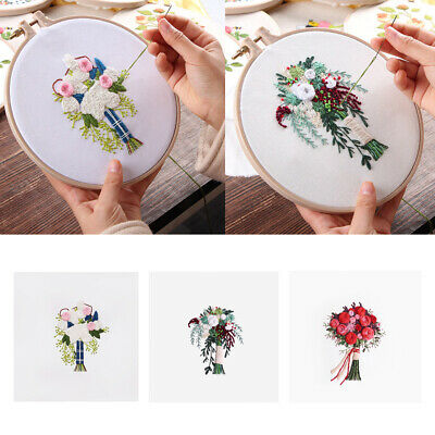 Creative Ribbon Painting Embroidery Starter Kit Wall Decoration Stamp Arts • 4.51£