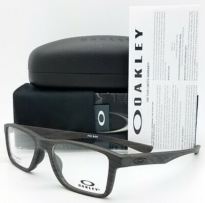 03f3370cdd39 NEW Oakley Fin Box RX Prescription Frame Matte Woodgrain OX8108-0353 51mm  2Face • 149.95