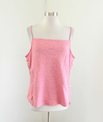 $ CDN45.98 • Buy NWT Meadow Rue Anthropologie Pantego Button Tank Top Blouse Size XL Pink