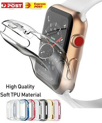 AU4.95 • Buy Full Cover TPU Case IWatch Screen Protector Case For Apple Watch Series 6/5/4/3
