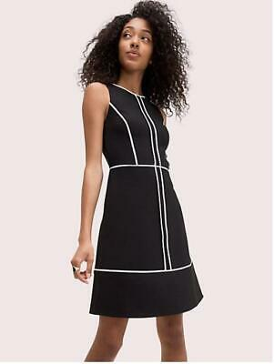 AU131.46 • Buy 2019 NEW AUTH Kate Spade Paneled Crepe Dress $298