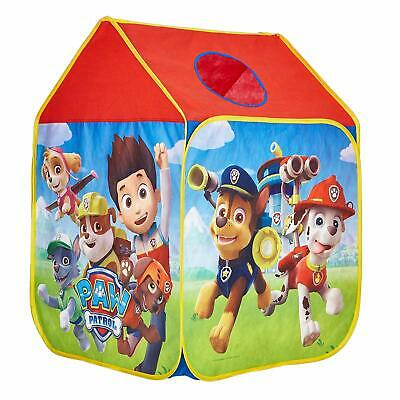 Pop Up Play Tent Paw Patrol Wendy House Roll Up Door Window Peek-a-boo Hole New • 22.32£