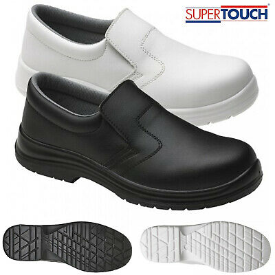 Mens Food X Hygiene Anti Slip On Lightweight Safety Shoes Steel Toe Cap Medical • 23.99£