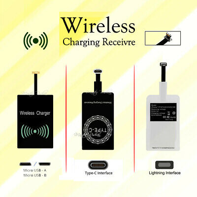 AU5.99 • Buy Universal Qi Wireless Charger Receiver Charging Adapter Pad Coil For Android Ios