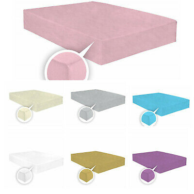 100% Brushed Soft Cotton Thermal Flannelette Fitted Sheets,Pillowcases All Sizes • 9.99£