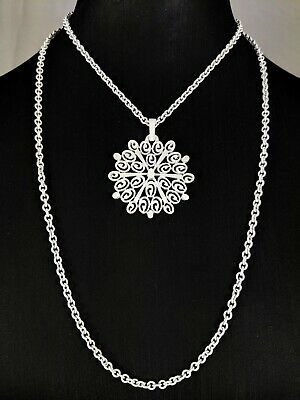 £55 • Buy Lovely Vintage  White Enamel Double-chain Pendant Necklace Jewellery By Trifari