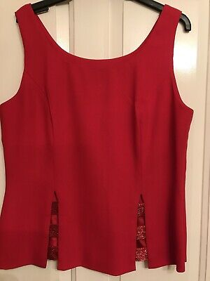 £30 • Buy After Six By Ronald Joyce Red Party Top Size 16