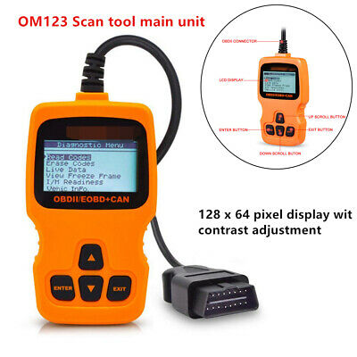 OM123 OBDII EOBD System Car Fualt Code Reader Scanner Auto Diagnostic Scan Tools • 34.55$