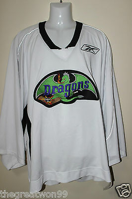 NHL/AAA Detroit Dragons #19 XL White Practice Ice Hockey Jersey By CCM/RBK • 26AU