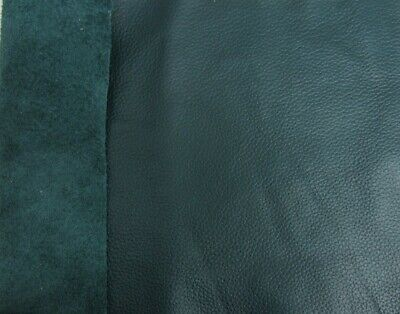 £5.95 • Buy LARGE PIECE GREEN/BLUE GENUINE LEATHER 30X20cm REMNANT/OFFCUT/REPAIR PATCH/2MM
