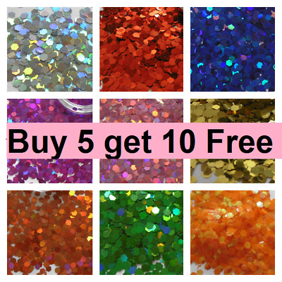 Glitter Chunky Cosmetic Lip Body Face Hair Lip Festival Craft Buy 5 Get 10 Free • 1.39£