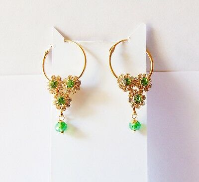 Indian Ethnic Bali Gold Plated Hoop Earrings Jhumki Jhumka Party Fashion Jewelry • 7.49$