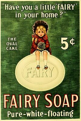 Fairy Soap Advert Vintage Retro Style Metal Sign, Bathroom, Laundry, • 7.49£