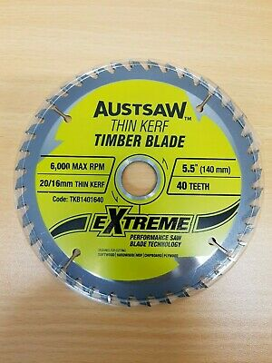 AU25 • Buy AUSTSAW TCT TIMBER SAW BLADES 140mm X 40 Tooth  X 5 Bulk Buy. NEW & CHEAP  #104