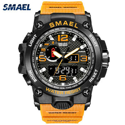 $ CDN16.05 • Buy SMAEL Men Sport Watch Dual Display Digital LED Electronic Male Quartz Wristwatch