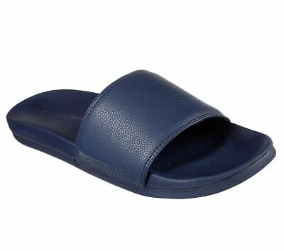 SKECHERS Men's Sporty Casual Comfort Slide Sandal/Flipflops In Navy • 24.99£