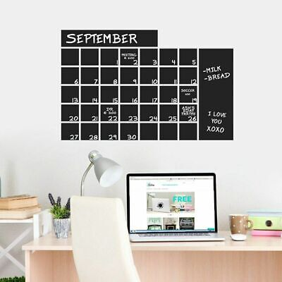 $37.50 • Buy Chalkboard Calendar Wide Wall Decal - Organizational Wall Accents Decals Sticker