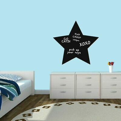 $18.75 • Buy Chalkboard Star Wall Decal - Shapes Organizer List Making Office Kids Classroom