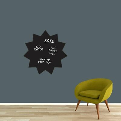 $20 • Buy Chalkboard Starburst Wall Decal - Shapes Lists Organizing Kids Office Classroom