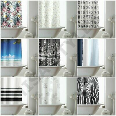 £9.95 • Buy 100% Polyester Fabric Modern Design Hookless Waterproof Washable Shower Curtain