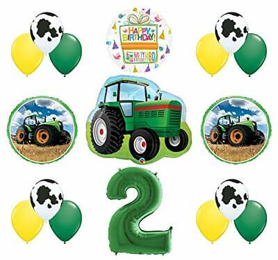 AU31.73 • Buy Mayflower Products 2nd Birthday Farm Tractor Balloon Bouquet Decorations