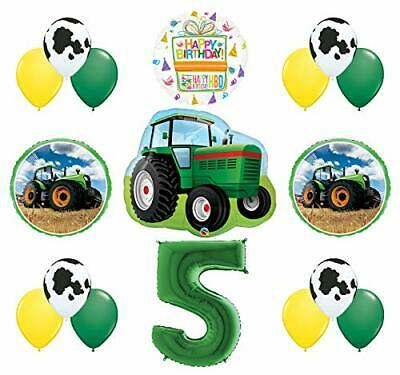 AU31.73 • Buy 5th Birthday Farm Tractor Balloon Bouquet Decorations And Party Supplies
