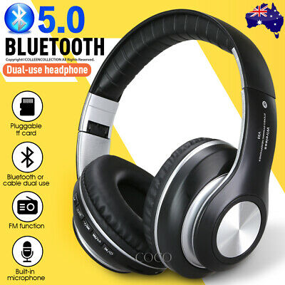 AU24.95 • Buy NEW Bluetooth 5.0 Wireless Earphones Foldable Headset Stereo Headphones With Mic