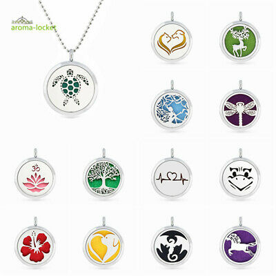 AU2.20 • Buy Aromatherapy Fragrance Essential Oil Diffuser Pendant Necklace Scent Jewelry+pad