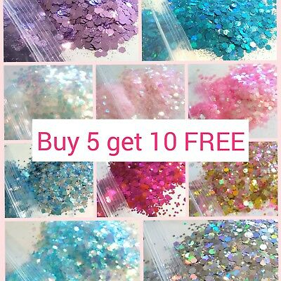 CHUNKY Festival Glitter 5g Bag, Face Eye Body Hair Tattoo Cosmetic Glitter Party • 1.19£