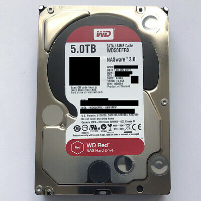 """View Details Western Digital WD Red 5TB Hard Drive NAS SATA Internal Disk HDD 3.5"""" WD50EFRX • 99.95£"""