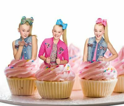 AU10.95 • Buy 12 STAND UP JOJO Siwa Edible Cupcake Cake Decoration Image Topper Birthday Party