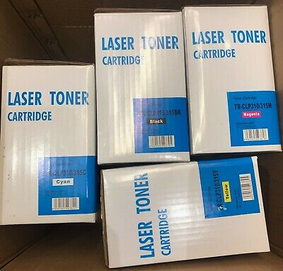4 Toner Cartridge For Samsung Clp-310n Clp-315w • 33.99£