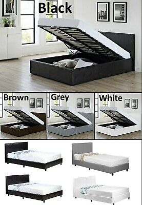 £169.99 • Buy Storage Or Low Bed In White Black Grey Brown 3FT 4FT 4FT6 5FT + Mattress Choices