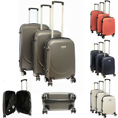 3Pcs Hard Shell Suitcase Set Hand Travel Luggage Sets 4 Wheel Trolley Case Cabin • 65.95£