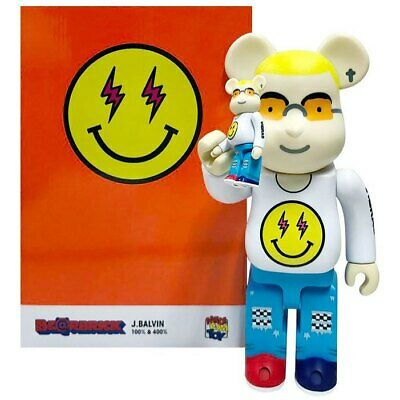 $299.99 • Buy J Balvin 400% 100% Bearbrick Vibras Medicom Be@rbrick Limited Edition Rare Dcon