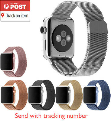 AU9.99 • Buy For All Apple Watch 5 4 3 2 1 Milanese Magnetic Stainless Steel Strap Loop Band