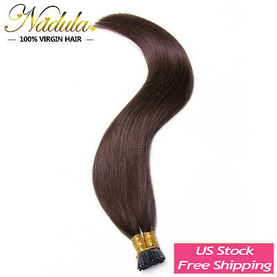 100g Pre-Bonded Keratin Stick I Tip 100% Straight Human Hair Extensions 20  #2  • 53.82$